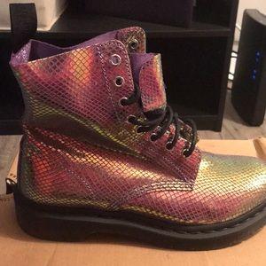 Purple snake skin Dr. Marten Boots